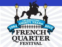 New Orleans French Quarter Festival 2013 Logo