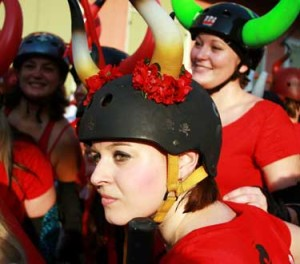 San Fermin Nueva Orleans Big Easy Roller Girls Running of the Bulls