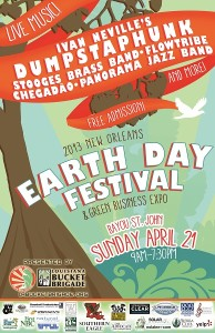 New Orleans Earth Day Festival 2013 Poster