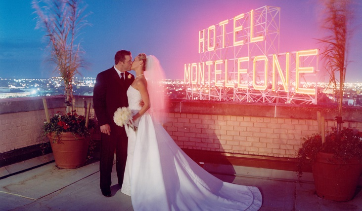 Hotel Monteleone New Orleans Wedding Rooftop Sign