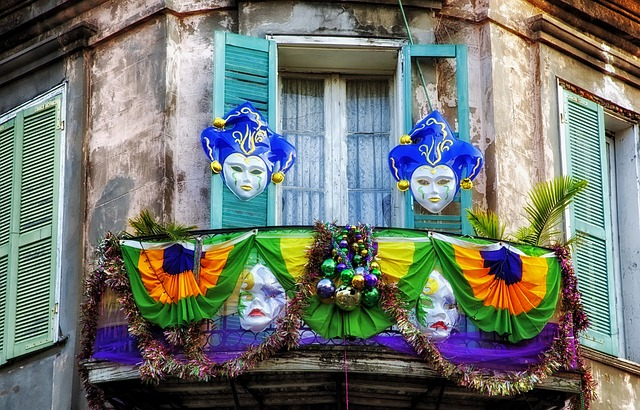 The official Mardi Gras colors of purple, green and gold represent justice, faith and power.