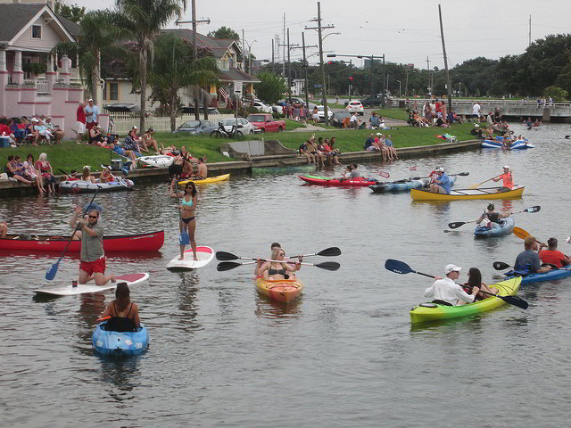 Celebrate the 4th of July like New Orleans locals do, on the banks of Bayou St. John. (Photo courtesy Flickr user Infrogmation.)