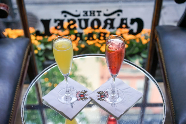Start your romantic date night in the French Quarterwith cocktails for two at The Carousel Bar.