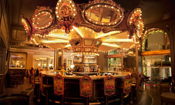 The Carousel Bar & Lounge is the only revolving bar in New Orleans. The 25-seat, circus themed, Merry-Go-Round bar overlooks Royal Street in the heart of the French Quarter.