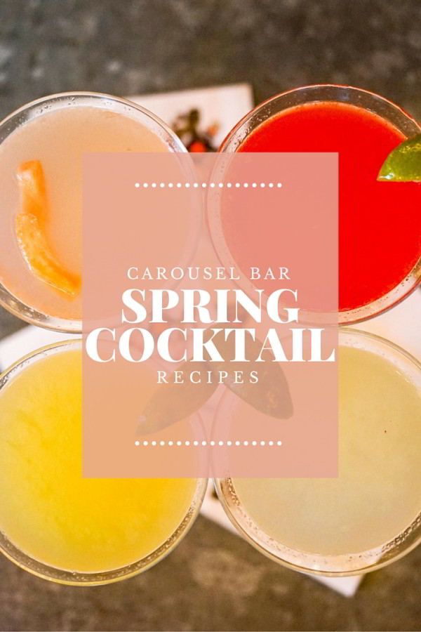 Make these delicious spring cocktail recipes at home, or enjoy them in New Orleans at the world famous Carousel Bar at Hotel Monteleone in the French Quarter!