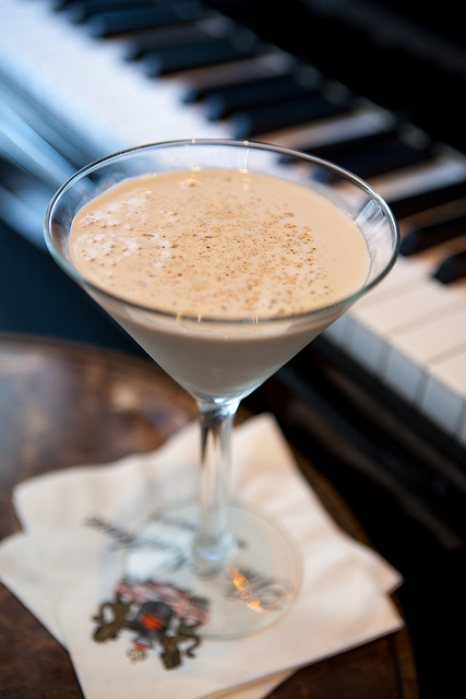 Enjoy the Tennessee Williams' Brandy Alexander Cocktail at the Carousel Bar