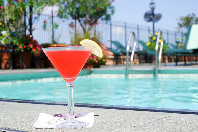 Enjoy a poolside cocktail at Hotel Monteleone this summer! (Photo courtesy Paul Broussard)