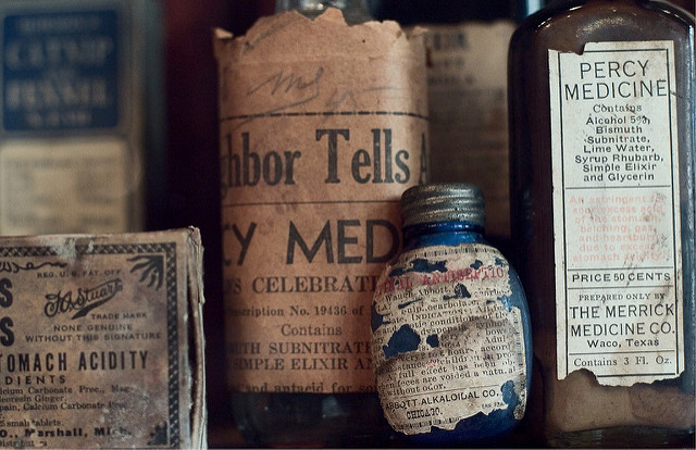 The New Orleans Pharmacy Museum houses a unique assortment of antique medical supplies. (Photo via Flickr user meeralee)