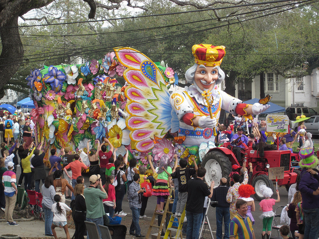 Carnival season culminates on Fat Tuesday, February 28, 2017, as Rex rolls down St. Charles Avenue. (Photo courtesy Flickr user Infrogmation)