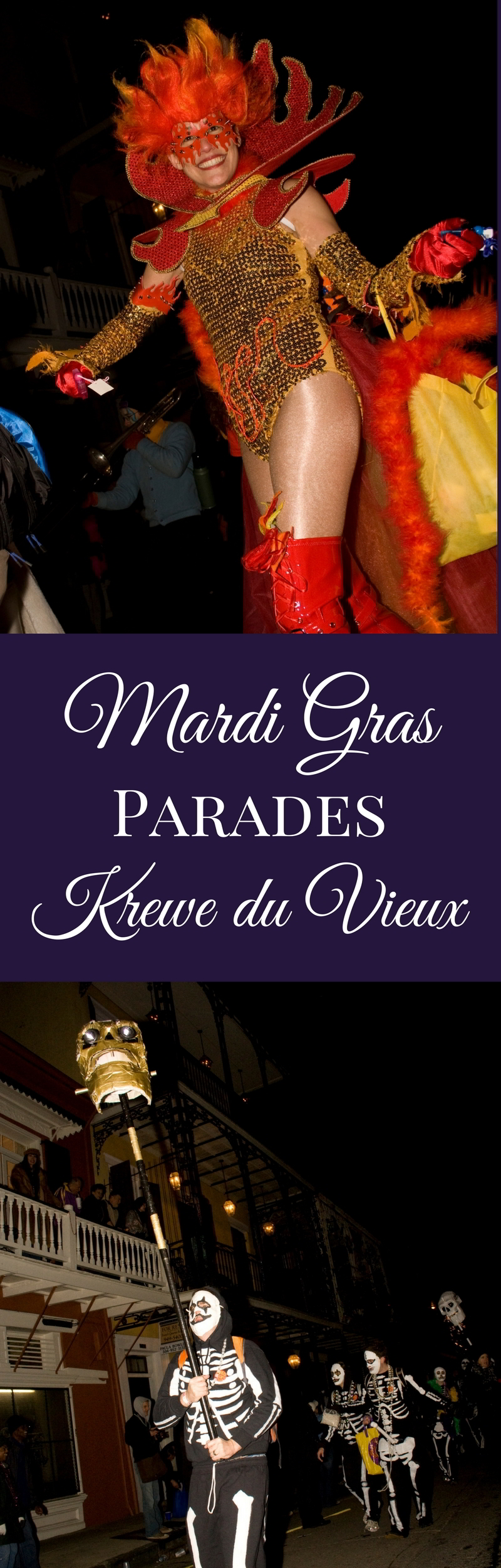 Krewe du Vieux is the traditional kickoff of the Mardi Gras parade season in New Orleans. The parade route starts in the Marigny at Franklin and Royal Street and winds through the French Quarter and Central Business District. (Photos courtesy Flickr user Derek Bridges)