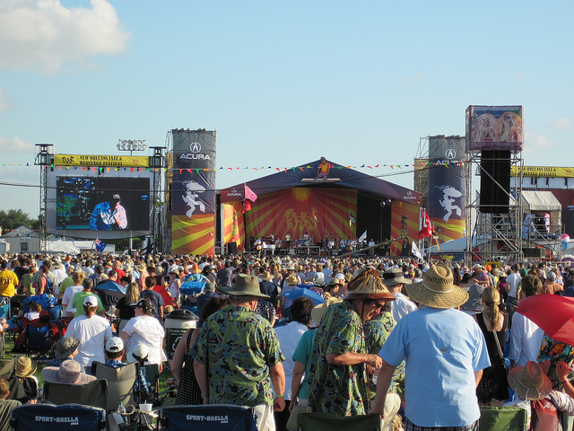 New Orleans Jazz & Heritage Festival spans two weekends of music and fun. (Photo courtesy Flickr user sailn1)