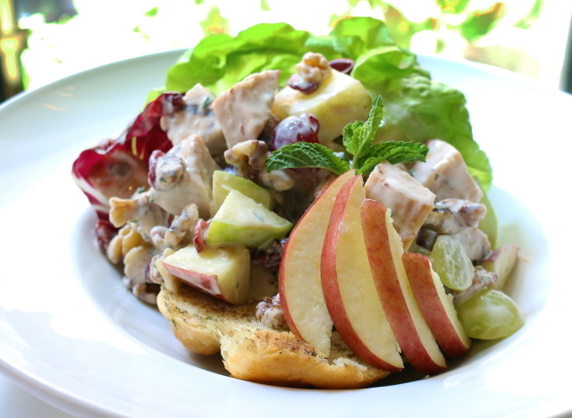 The Smoked Turkey Waldorf Salad at Criollo Restaurant is a favorite among French Quarter locals.