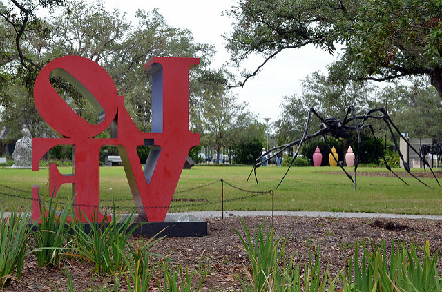 Love is in the air at the NOMA Sculpture Garden in City Park. (Photo via Angela N. on Flickr)