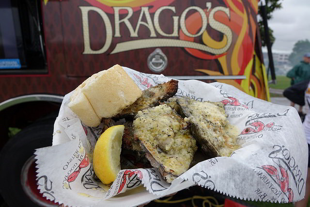 Drago's serves up their famous Charbroiled Oysters at NOLA Oyster Fest. (Photo: Paul Broussard)