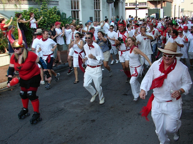 Running of the Bulls, New Orleans Style: San Fermin en Nueva Orleans