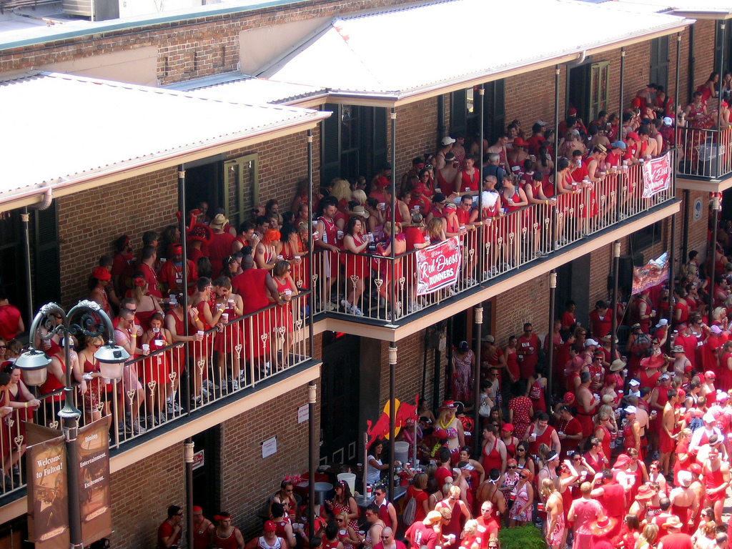 The Red Dress Run is an annual summer event that takes place each August in downtown New Orleans.