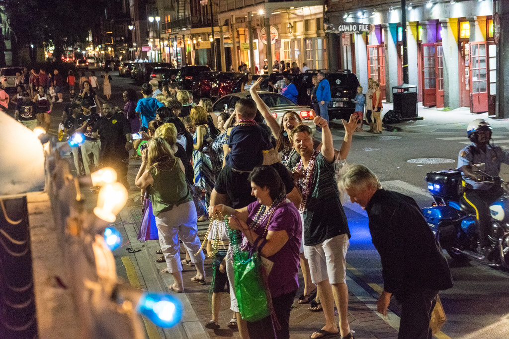 The Carnaval Latino Parade Rolls Through the French Quarter