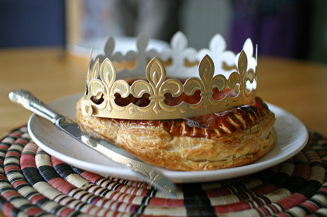 Celebrate Twelfth Night in New Orleans by indulging on a traditional French-style king cake, the Galette des Rois, available at La Boulangerie. (Photo: Steph Gray)
