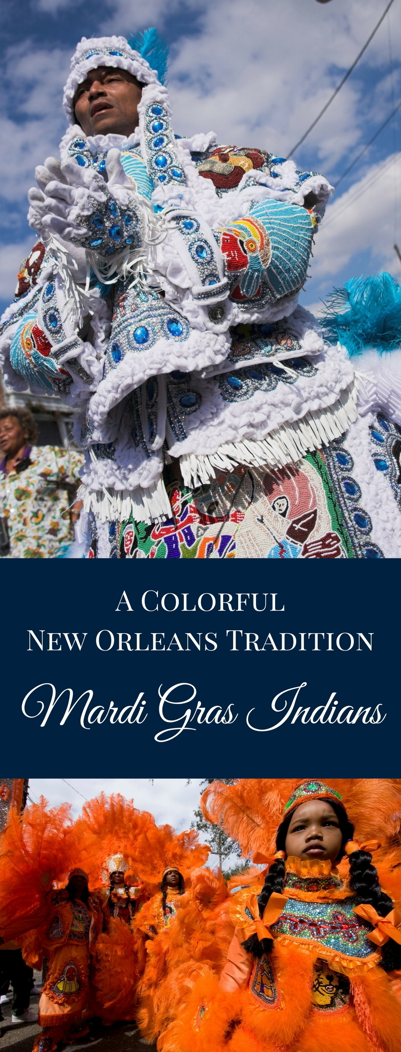 One of the most colorful (and secretive) of Carnival traditions has a second showing. The Mardi Gras Indians will strut their stuff on Super Sunday, traditionally the 3rd Sunday in March. (Photo courtesy Flickr user Derek Bridges)