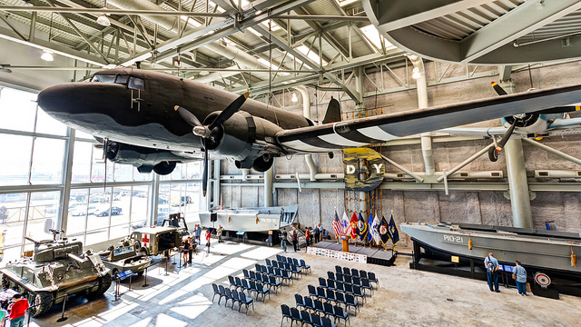 The National WWII Museum spans three buildings in downtown New Orleans and features exhibits on all aspects of the war that changed the world. (Photo courtesy Flickr user Michael Hicks.)