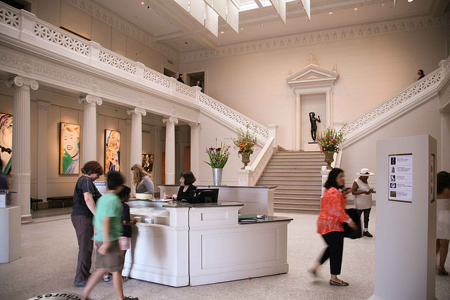 The lobby of the New Orleans Museum of Art buzzes with excitement. (Photo courtesy Flickr user Steven Depolo)